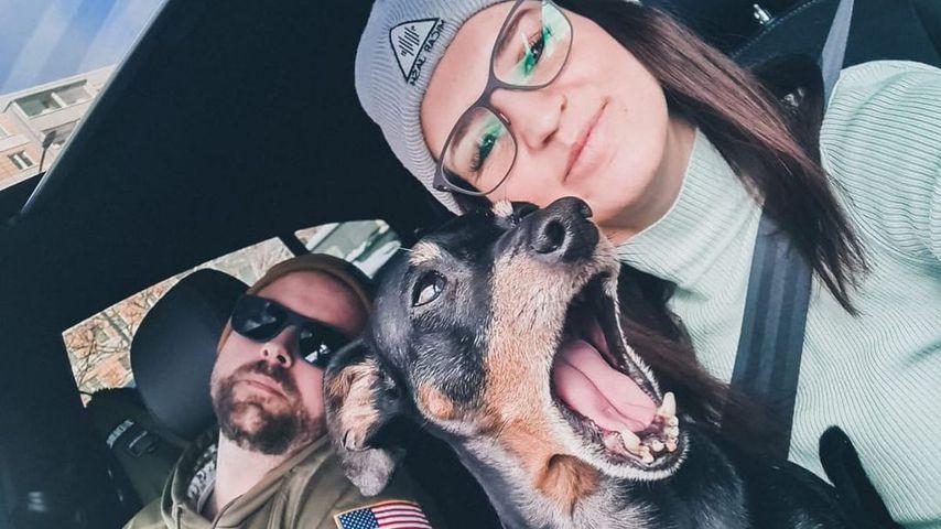 Felix von Jascheroff,  Alexandra Sophie und ihr Hund im Januar 2021