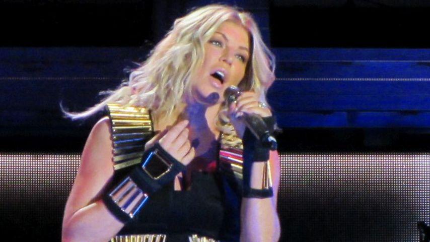 Fergie bei einem Auftritt in New York