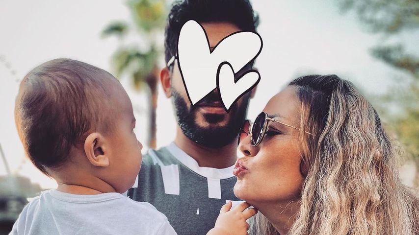 Fiona Erdmann mit ihrem Partner und ihrem Sohn