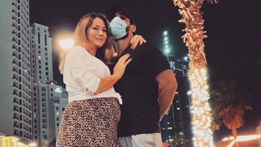 Fiona Erdmann mit ihrem Partner, Juli 2020