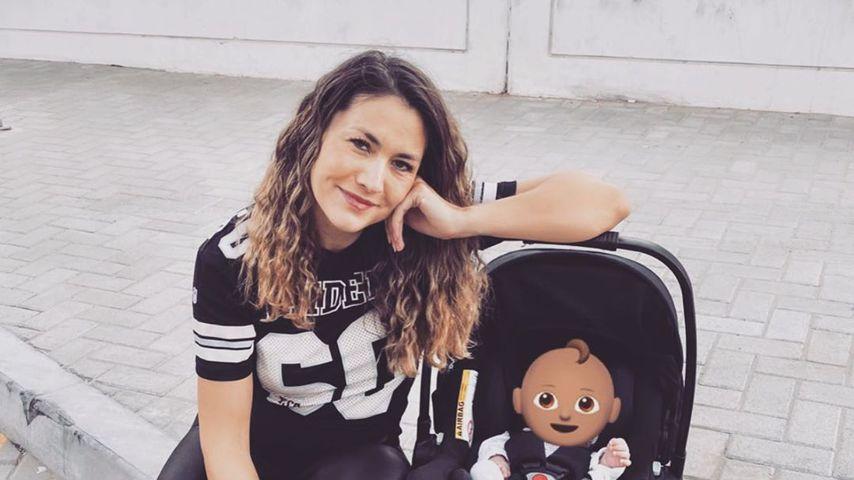 Fiona Erdmann und ihr Baby