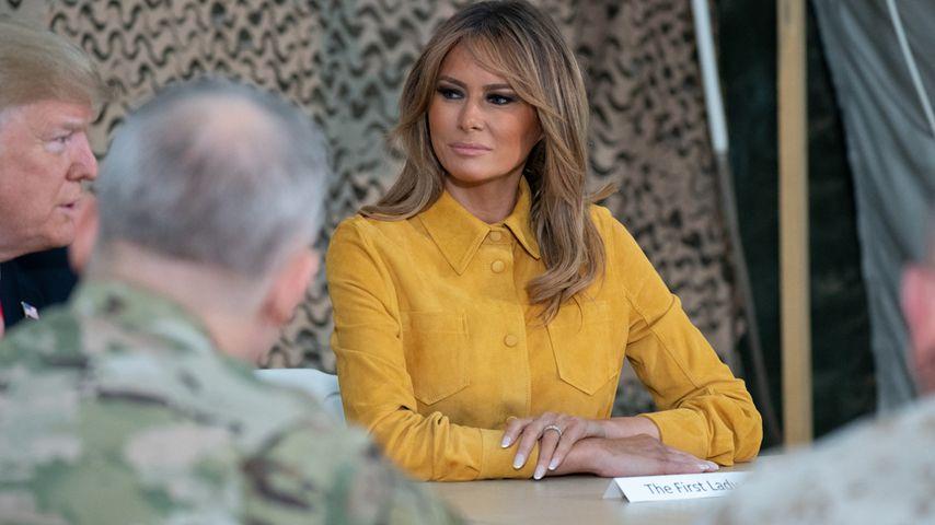 First-Lady Melania Trump im Irak im Gespräch mit Soldaten
