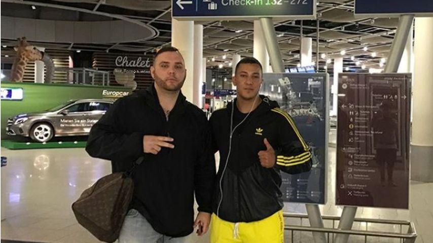 Fler und Farid Bang am Flughafen