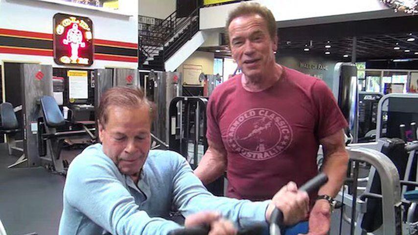 Franco Columbu und Arnold Schwarzenegger, Februar 2017