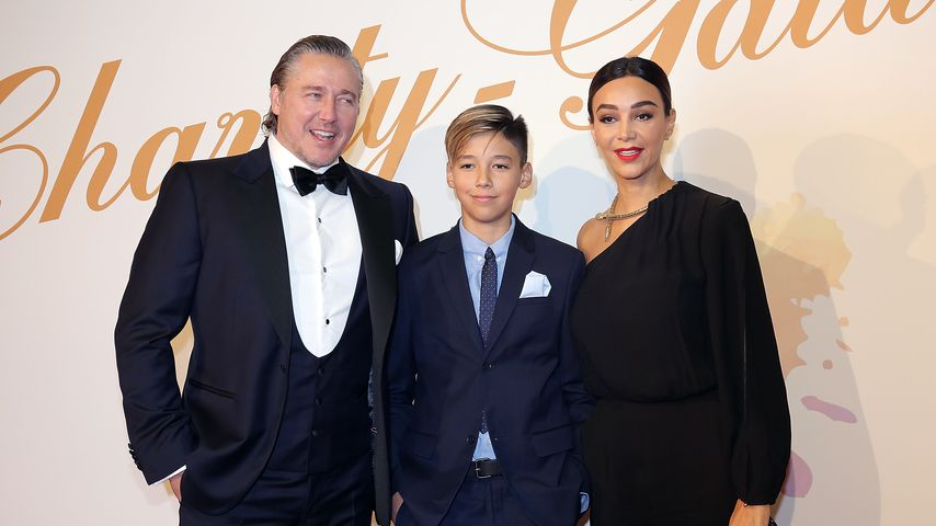 Franjo, Diego und Verona Pooth auf der Charity-Gala in Bad Nauheim