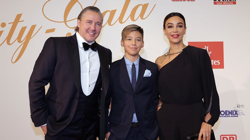 Franjo und Verona Pooth mit ihrem Sohn Diego, 2017