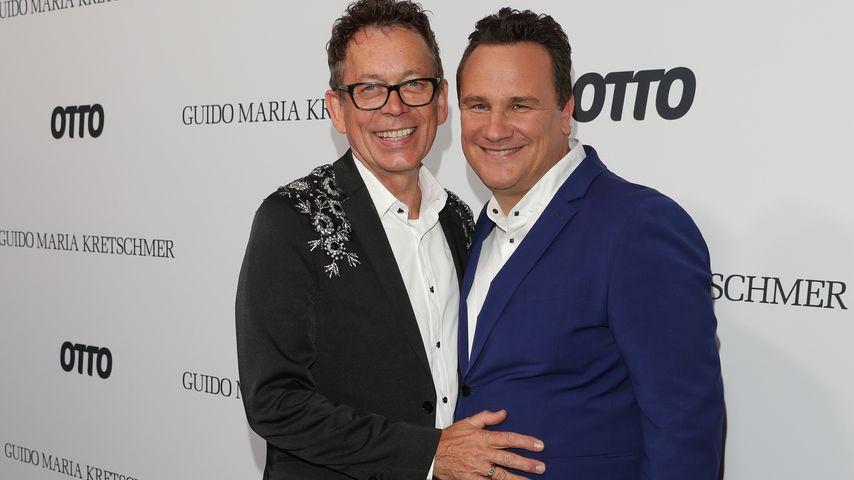 Frank Mutters und Guido Maria Kretschmer auf der Berlin Fashion Week 2019