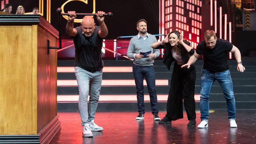"""Frank Rosin, Steven Gätjen, Jasmin Wagner, Martin Klempnow in der """"Die! Herz! Schlag! Show!"""""""
