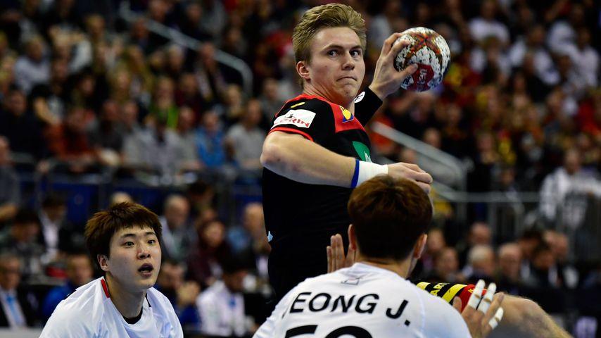 Franz Semper bei der Handball-WM 2019 gegen Korea