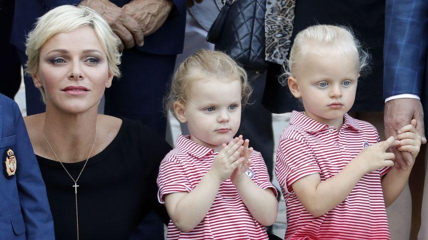 Fürstin Charlène und ihre Zwillinge Gabriella und Jacques in Monaco