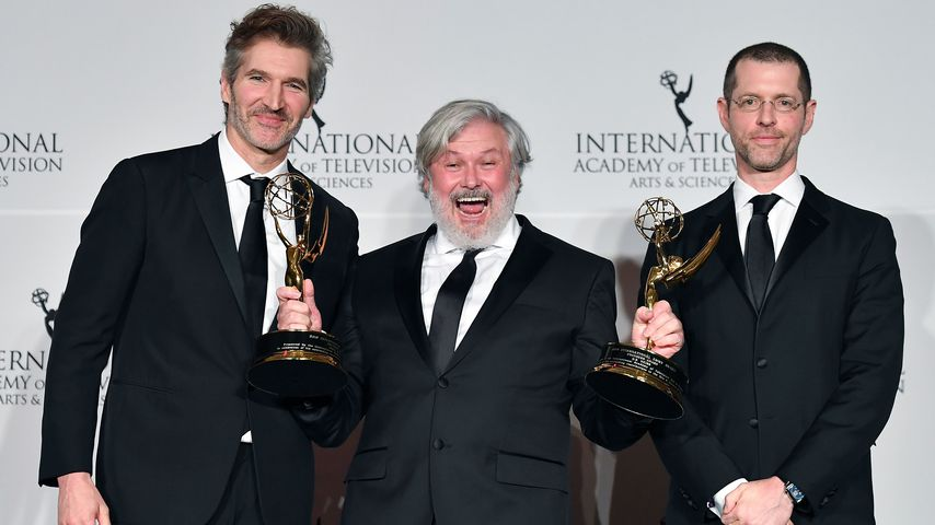 "David Benioff, Conleth Hill und D.B. Weiss, ""Game of Thrones""-Drehbuchautoren"