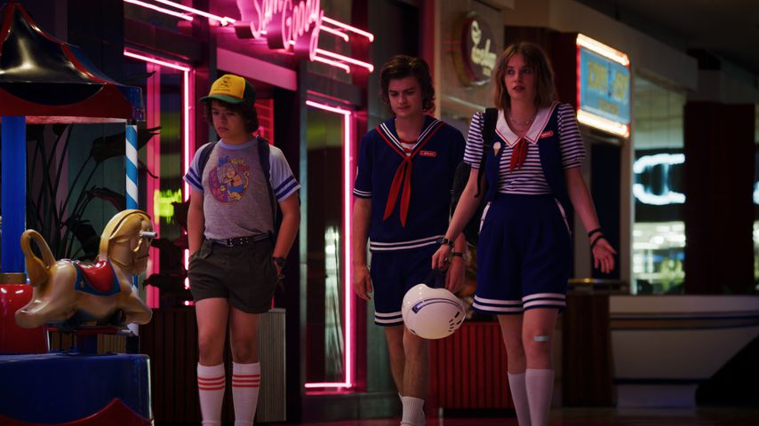 "Gaten Matarazzo, Joe Keery und Maya Hawke in ""Stranger Things"""