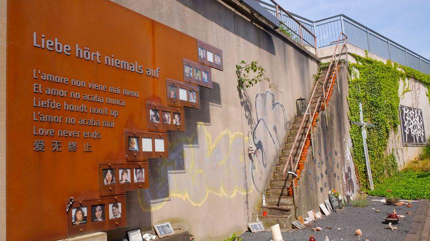 Gedenkstätte des Loveparade-Unglücks in Duisburg