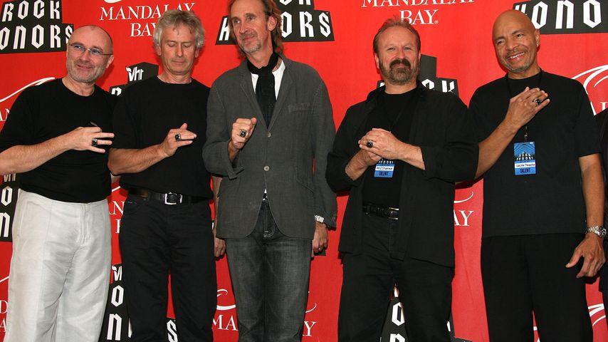 Die Rockband Genesis bei einem Event in Las Vegas im Mai 2007
