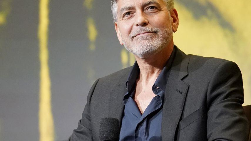 George Clooney bei einer Pressekonferenz in L.A. im Mai 2019