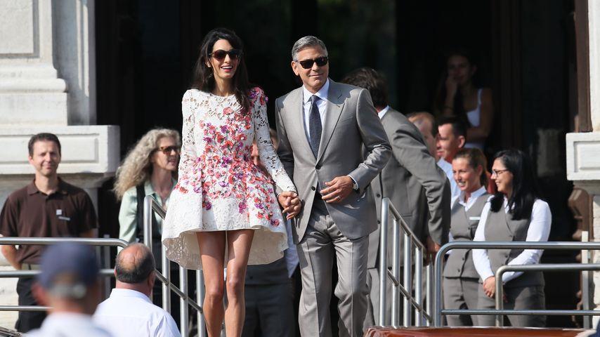 George Clooney & Amal: Erster Auftritt als Ehepaar