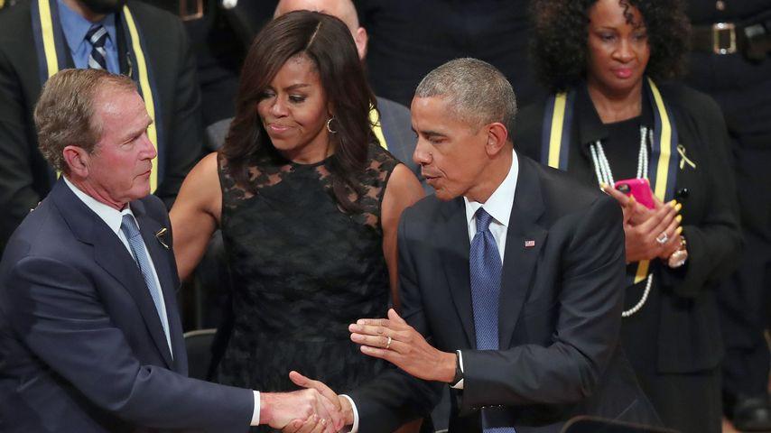 George W. Bush, Michelle Obama und Barack Obama in Dallas