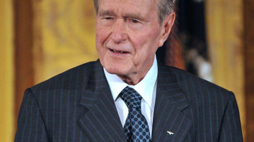 George W. H. Bush im Weißen Haus in Washington DC im Januar 2009