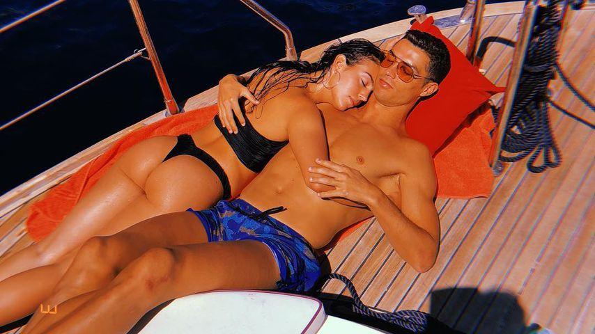 Georgina Rodriguez und Cristiano Ronaldo im Urlaub