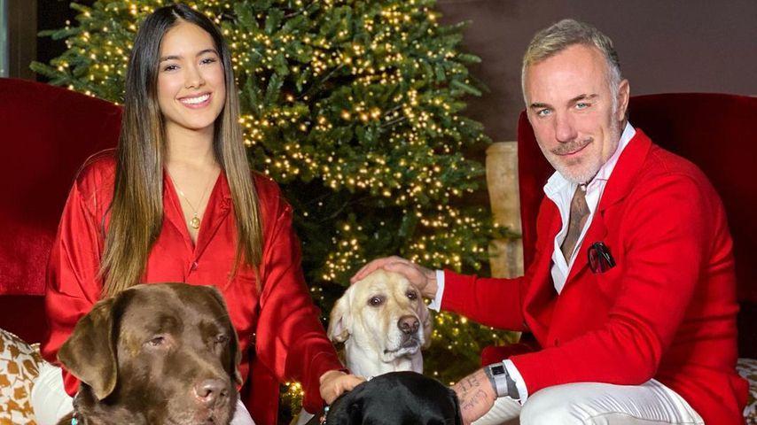 Gianluca Vacchi mit seiner Freundin Sharon im Dezember 2020