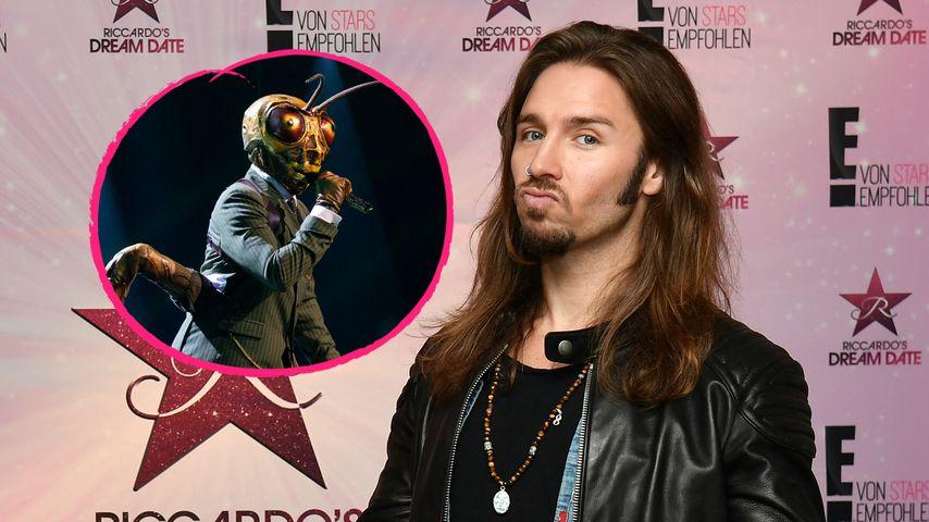 """Gil Ofarim (rechts) und der Grashüpfer von """"The Masked Singer"""""""