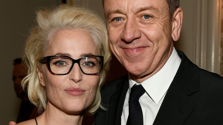 Gillian Anderson und Peter Morgan in LA 2018