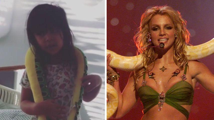 So süß: Snookis Tochter (4) versucht sich als Britney Spears