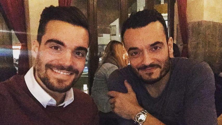 Stefano Zarrella und Giovanni Zarrella in einem Restaurant