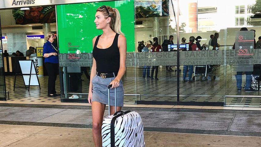 Giuliana Farfalla bei der Ankunft in Australien