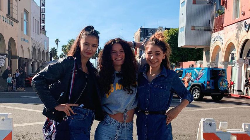 GNTM-Girls Melina, Joelle und Catharina in Los Angeles