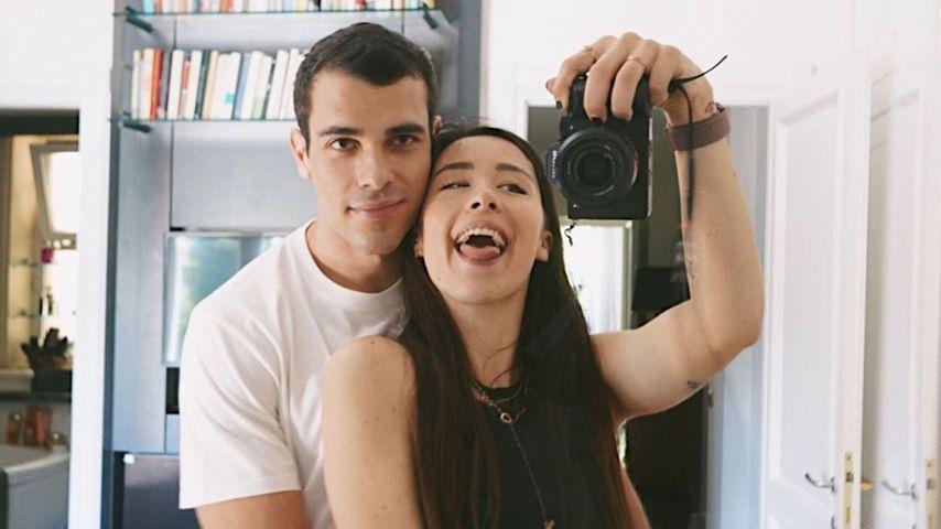 Goffredo Cerza und Aurora Ramazzotti, Juni 2020