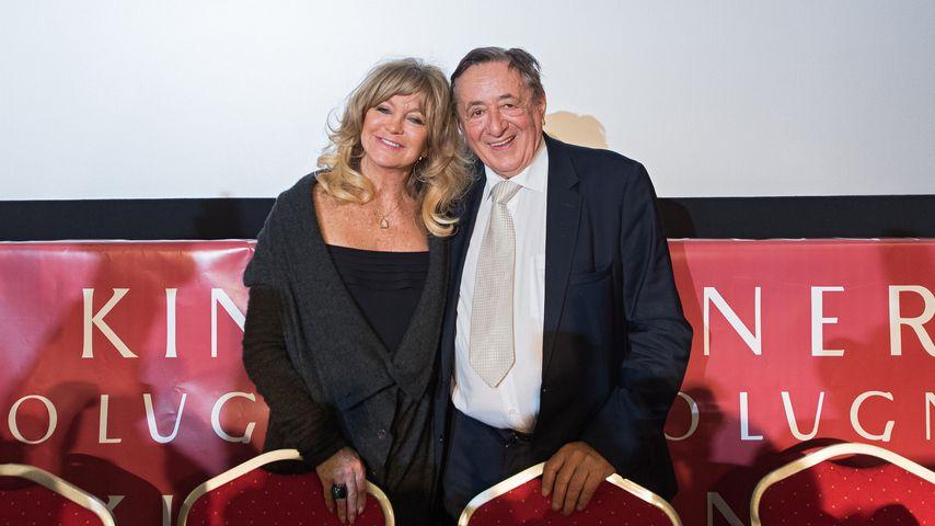 Goldie Hawn und Richard Lugner bei einer Pressekonferenz für den Wiener Opernball 2017