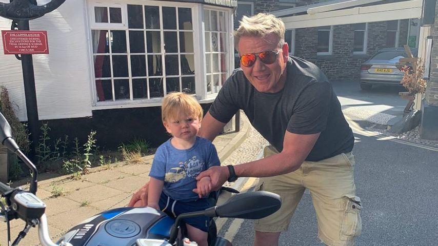 Gordon Ramsay mit seinem Sohn Oscar, Juni 2020