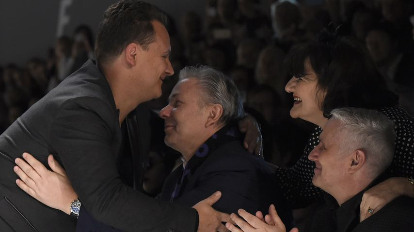 Guido Maria Kretschmer mit Klaus Wowereit und Jörn Kubicki