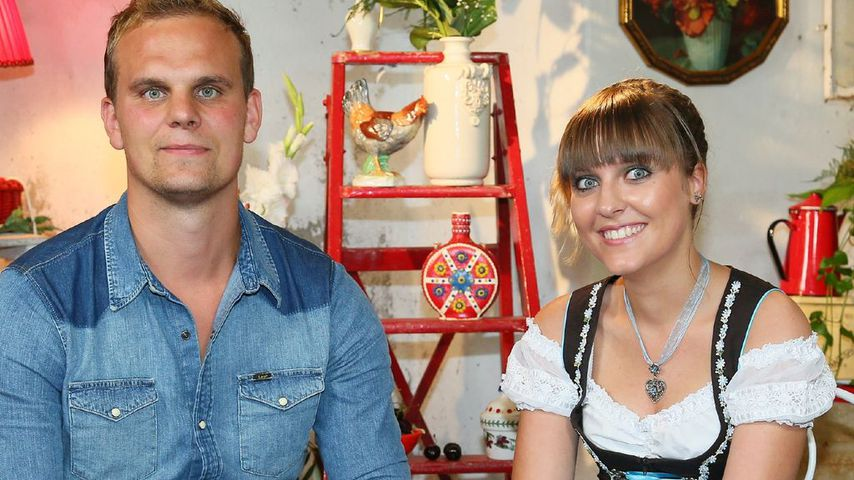 """Gunther und Jenny beim Scheunenfest, """"Bauer sucht Frau"""" 2014"""