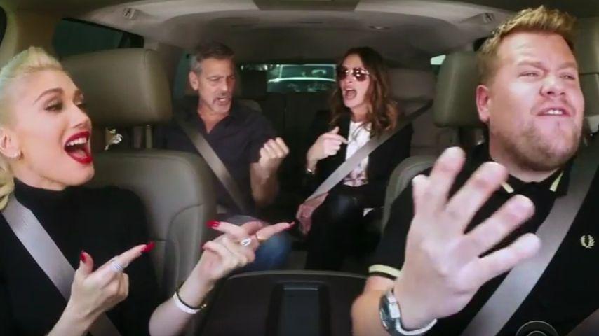 Gwen Stefani: Carpool mit George Clooney & Julia Roberts!