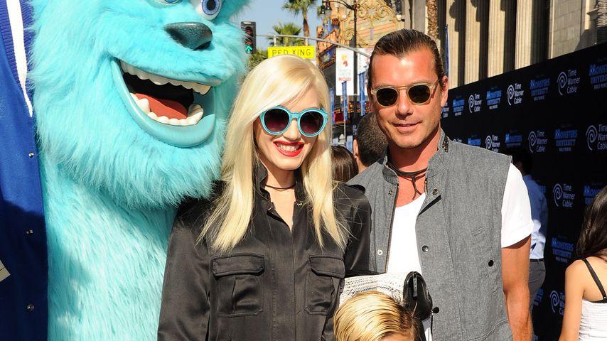 Gwen Stefani und Gavin Rossdale mit ihren Söhnen Zuma und Kingston