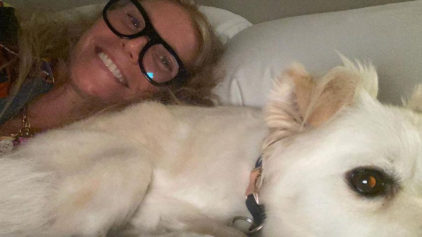 Gwyneth Paltrow und einer ihrer Hunde im August 2021