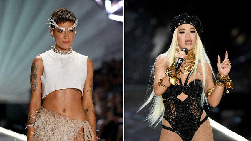 Mit Feder-Augenbrauen: Halsey & Rita Ora rocken VS-Catwalk!