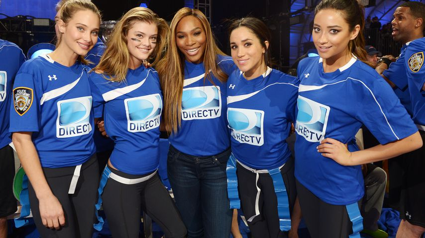 Hannah Davis, Nina Agdal, Serena Williams, Herzogin Meghan und Shay Mitchell 2014