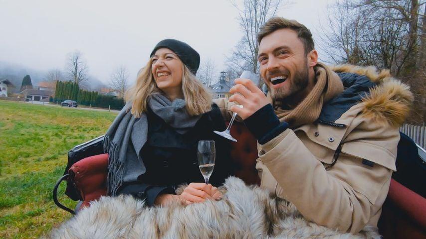Hannah Kerschbaumer und Niko Griesert bei einem Bachelor-Date