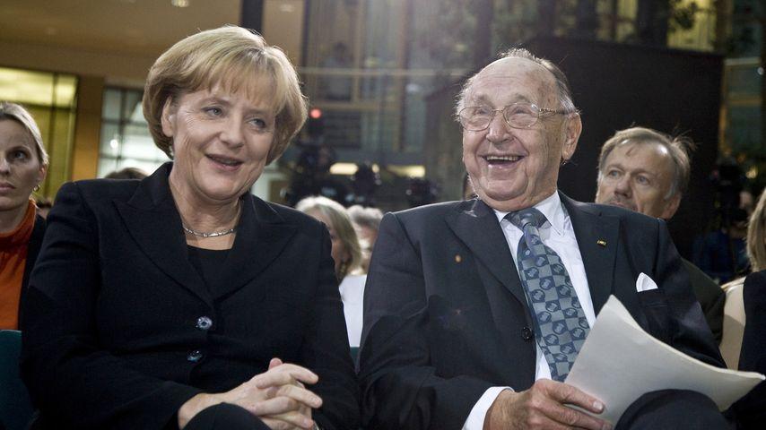 Angela Merkel und Hans-Dietrich Genscher