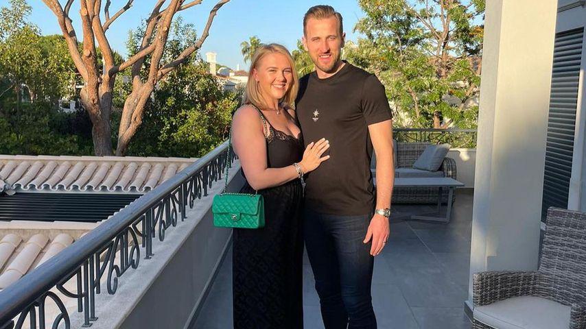 Harry Kane mit seiner Frau Katie