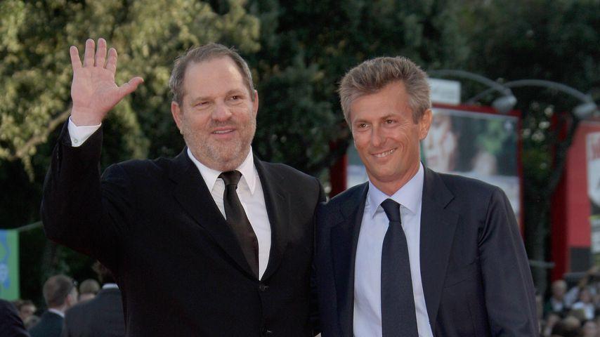 """Harvey Weinstein und Fabrizio Lombardo bei der Premiere von """"Michael Clayton"""""""
