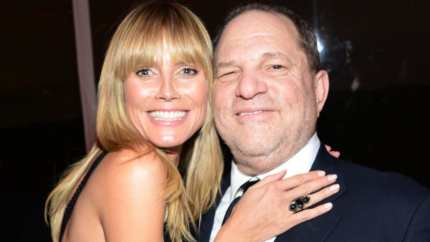 Harvey Weinstein mit Heidi Klum auf der Golden Globe After Party 2014