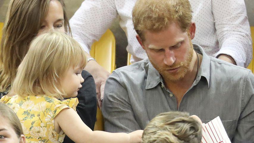 Hayley Henson, ihre Tochter Emily und Prinz Harry bei den Invictus Games in Toronto