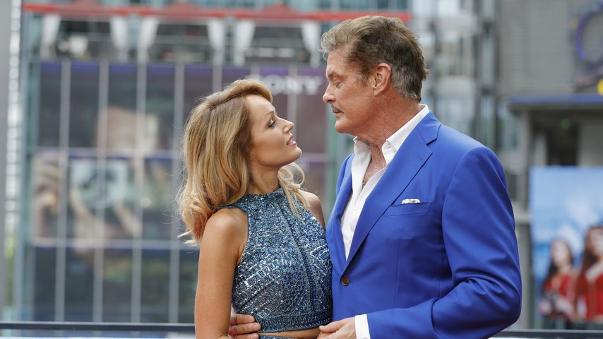 Hayley Roberts und David Hasselhoff in Berlin