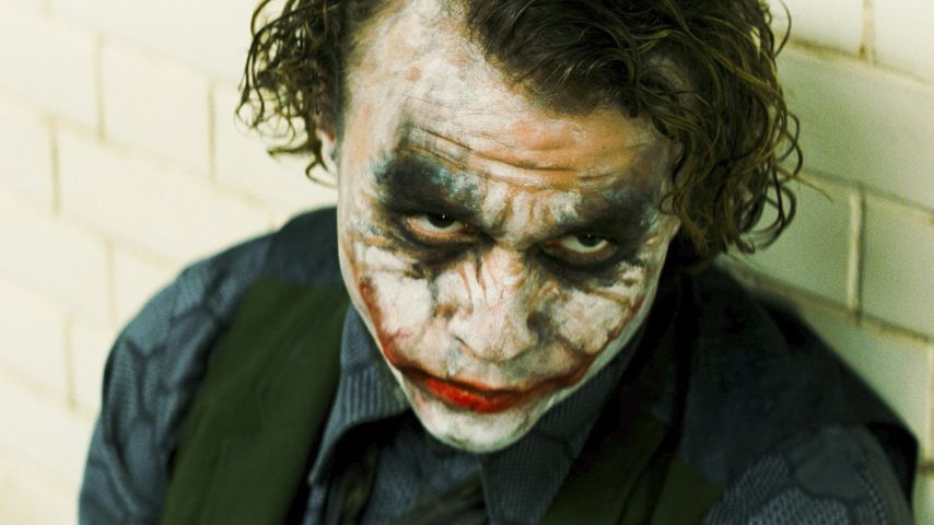 "Heath Ledger als Joker in ""The Dark Knight"""
