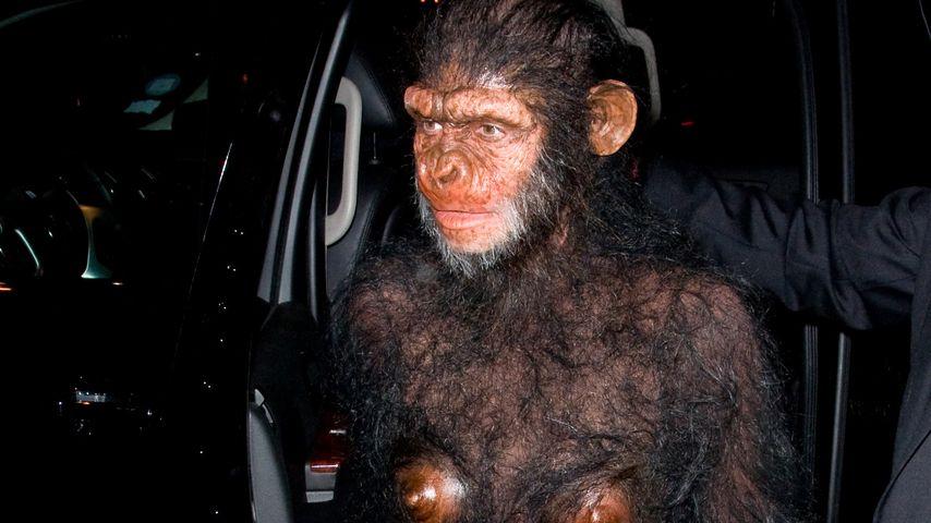 Heidi Klum als Affe an Halloween 2011