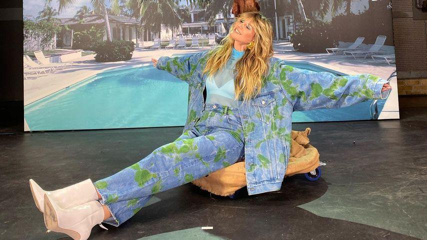"Heidi Klum am ""Germany's next Topmodel""-Set, 2020"
